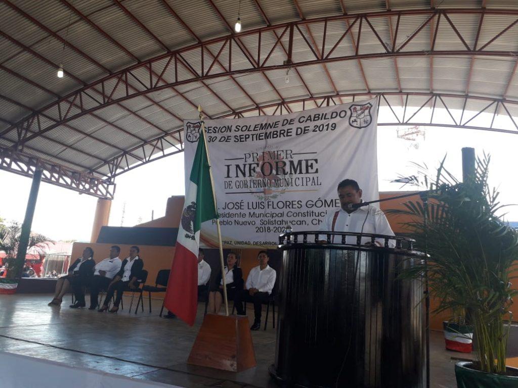Alcalde rinde cuentas a los habitantes de Pueblo Nuevo