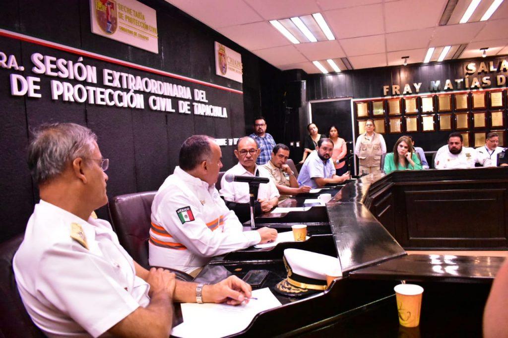 Encabeza Edil Óscar Gurría 1ª Sesión extraordinaria del Consejo Municipal de Protección Civil