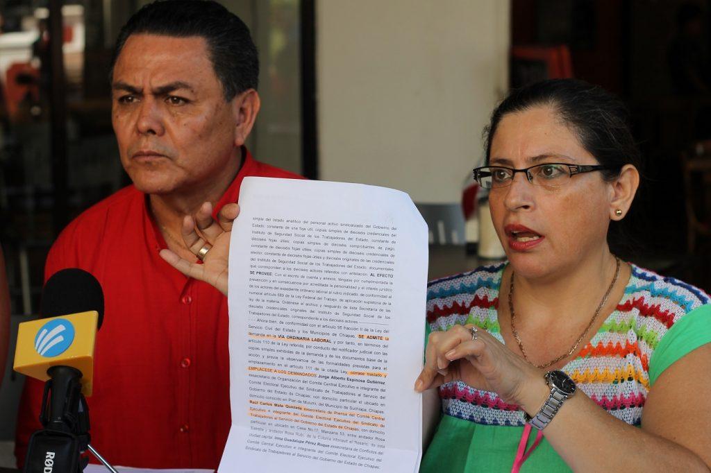 Exigen burócratas de Chiapas, elecciones para dirigente sindical