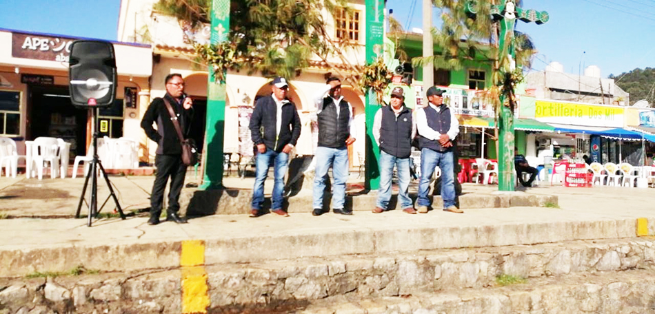 Habitantes de San Juan Chamula se manifestaron contra vandalismo en el municipio