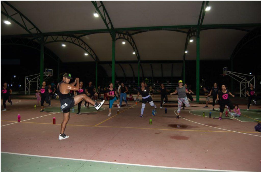 Parque Los Cerritos sede de cientos de personas que realizan deporte al aire libre en Tapachula
