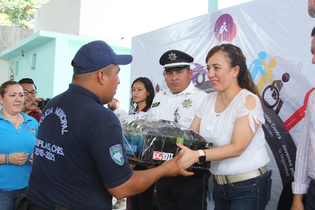 Participa SSyPC en Feria de la Prevención Ciudadana en Jiquipilas