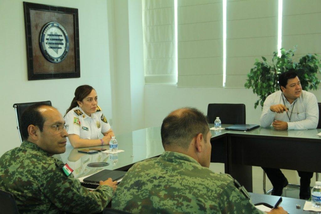 Titular de la SSyPC coordina acciones de seguridad en Chiapas con FGE y Guardia Nacional