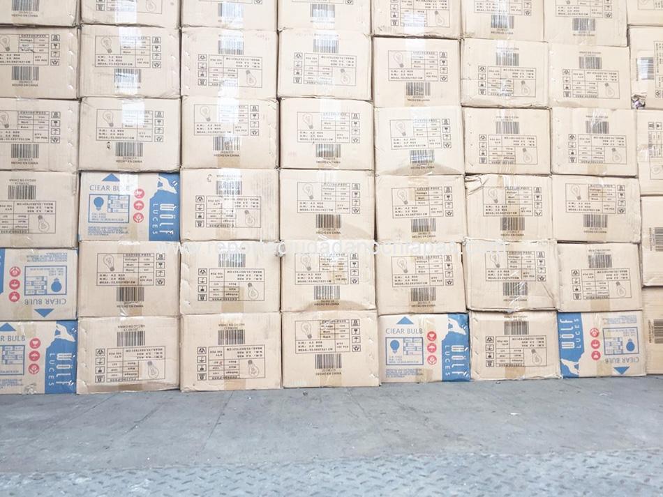 Asegura FGR 250 mil focos de contrabando
