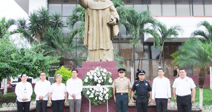 Ayuntamiento tapachulteco conmemora el 191 Aniversario Luctuoso de Fray Matías de Córdova
