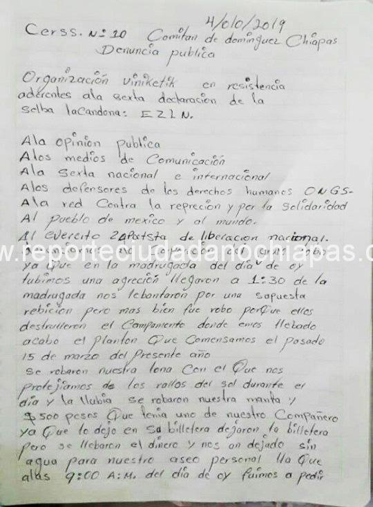 Denuncian represión en el CERSS de Comitán