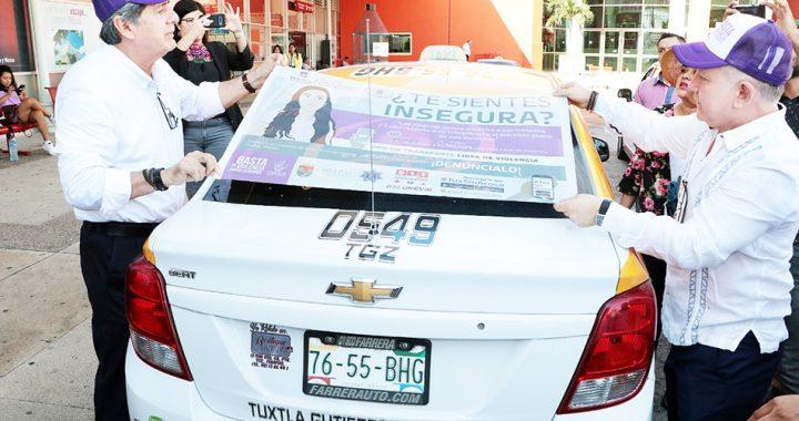 En Tuxtla Gutiérrez inicia campaña de difusión en radio taxis de la aplicación móvil #TuxSinAcoso