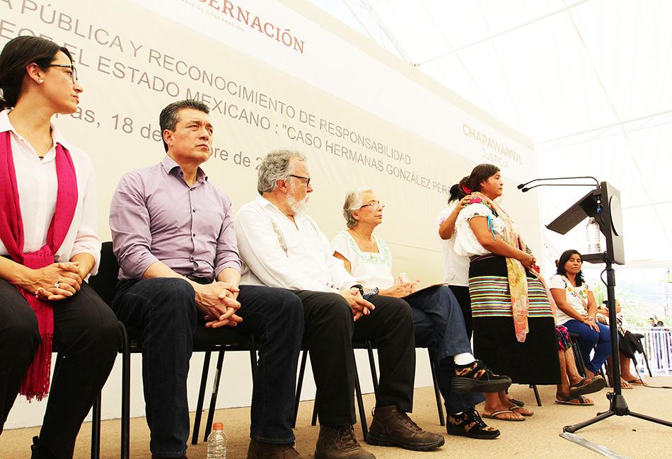 El Estado Mexicano extiende disculpa pública en el caso de las hermanas González Pérez