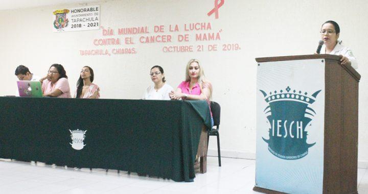Gobierno de Tapachula imparte pláticas para conmemorar Día Mundial de la lucha contra el cáncer de mama