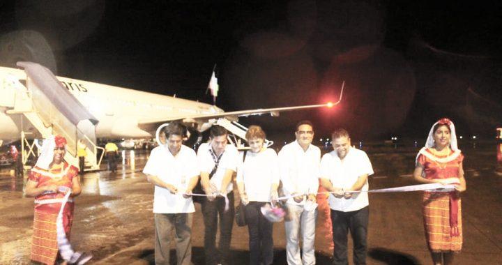 Gobierno municipal tapachulteco da la bienvenida a nuevo vuelo de la aerolínea Volaris