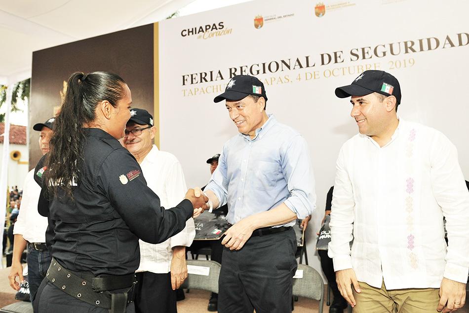 Inaugura Rutilio Escandón Feria de Seguridad y Justicia en Tapachula