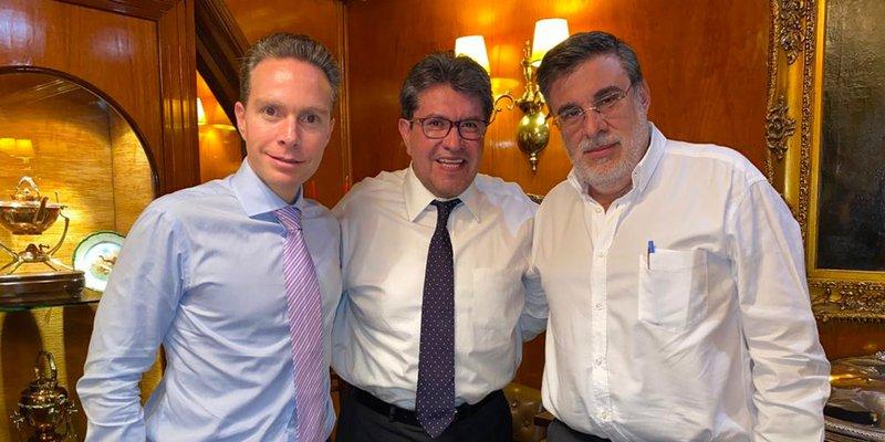 Monreal, Velasco y Scherer trazan ruta para aprobar reformas de AMLO