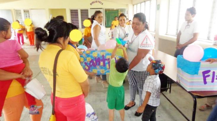 Viven en El Amate 9 niñas y niños que cumplen prisión con su madre.