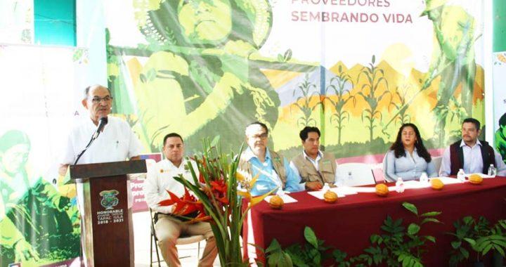 Edil Óscar Gurría participa en la Feria de Proveedores Sembrando Vida