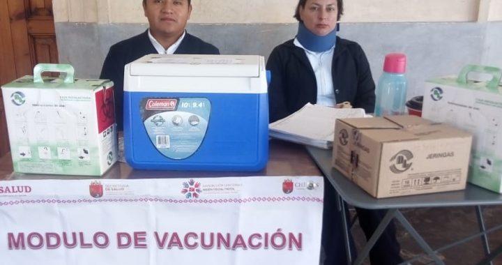 Instalan módulos de vacunación contra la influenza en San Cristóbal