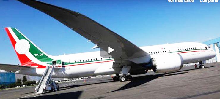 El avión presidencial regresará a México para ser subastado aquí