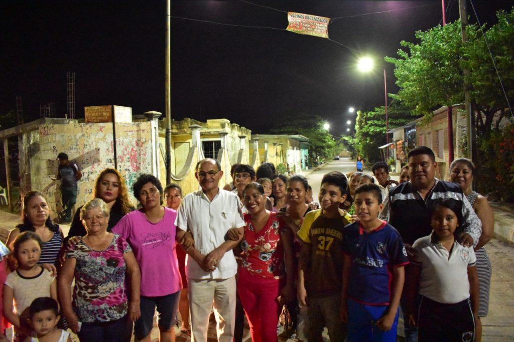 Colonias Alianza Campesina y Los Llanes ya cuentan con alumbrado público