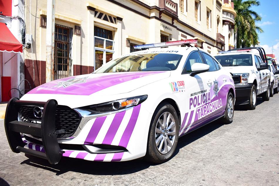 Entrega Alcalde Óscar Gurría Equipo y Unidades Vehiculares a Seguridad Pública Municipal