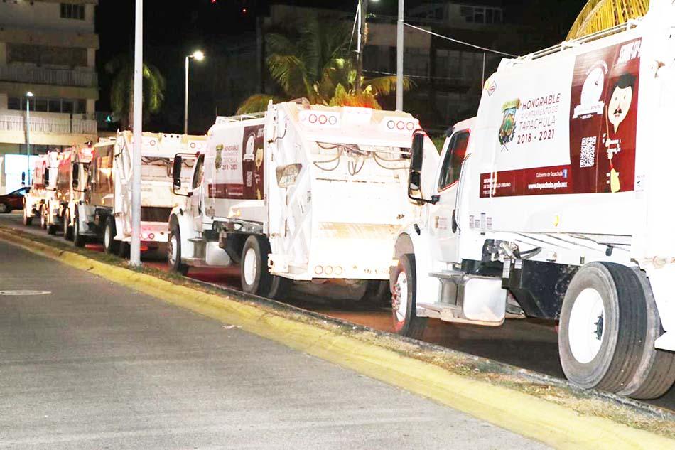 El gobierno que encabeza el alcalde Gurría Penagos puso en marcha recolección de basura en horario vespertino