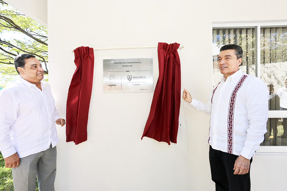 Inaugura Rutilio Escandón Centro de Convivencia Familiar del Poder Judicial