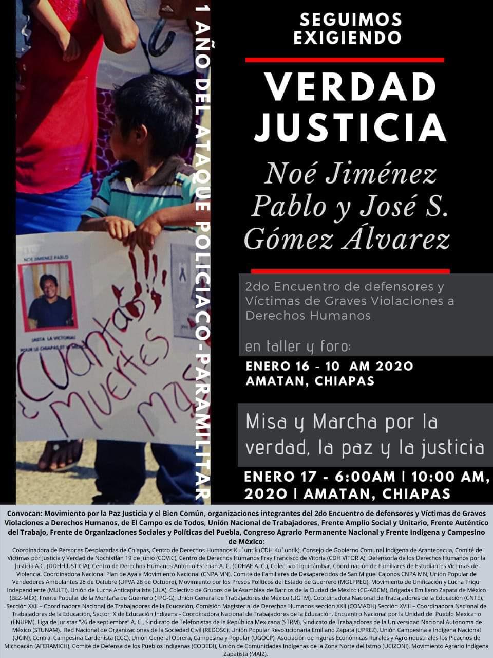 Invitan a movilización en Amatán para exigir justicia por desaparecidos
