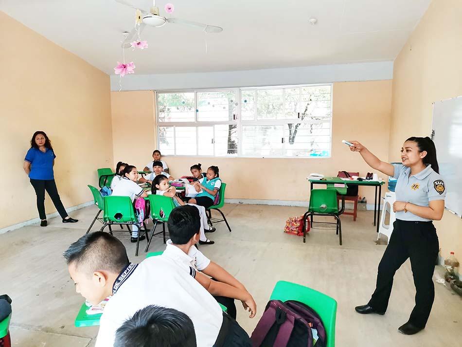 Lleva SSyPC Prevención del Delito a escuelas de Chiapas