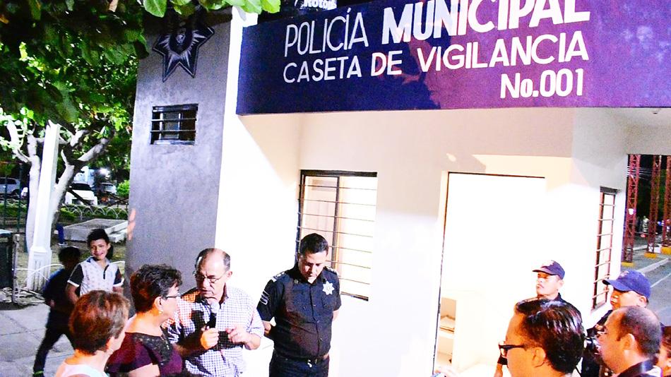 Para mayor seguridad en Tapachula, se han rehabilitado 24 casetas de vigilancia Alcalde Gurría Penagos
