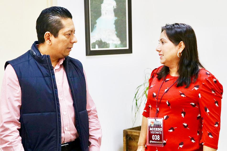Se reúne fiscal general con presidenta municipal de Mapastepec