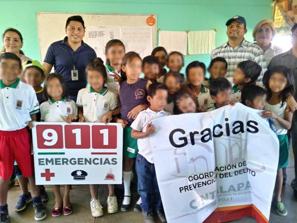 SSyPC fomenta uso correcto del 911 y 089 entre estudiantes de Chiapas