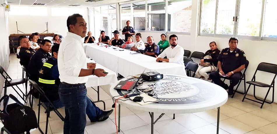 SSyPC y SS capacitan a delegados de Tránsito del Soconusco en prevención de accidentes