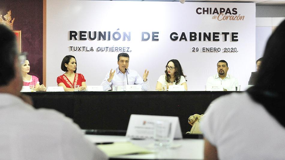 Trabajar con transparencia y cortar de raíz la corrupción pide Rutilio Escandón a su Gabinete