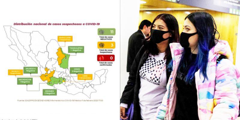 3 posibles casos de coronavirus en México están en CDMX, NL y Jalisco