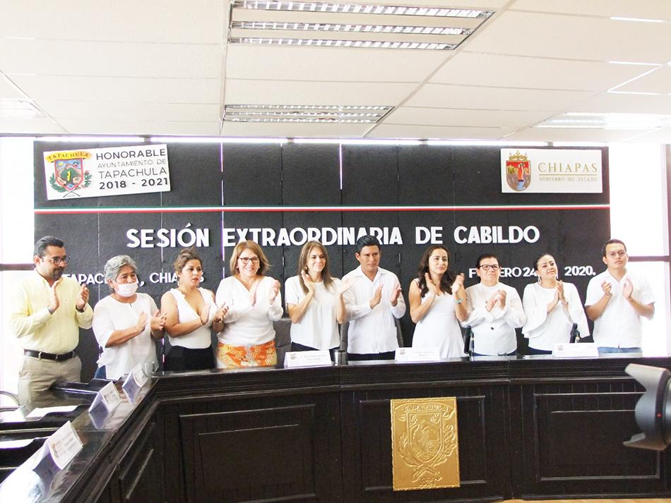 El Ayuntamiento de Tapachula realizó Sesión Extraordinaria de Cabildo