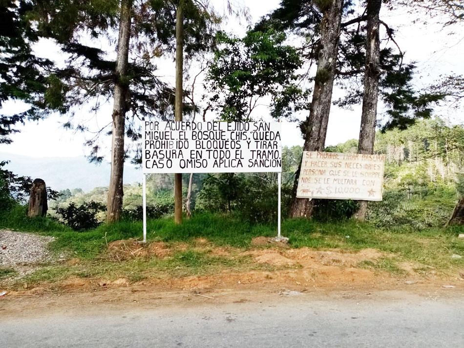 Comunidad de El Bosque prohíbe bloqueos de carretera