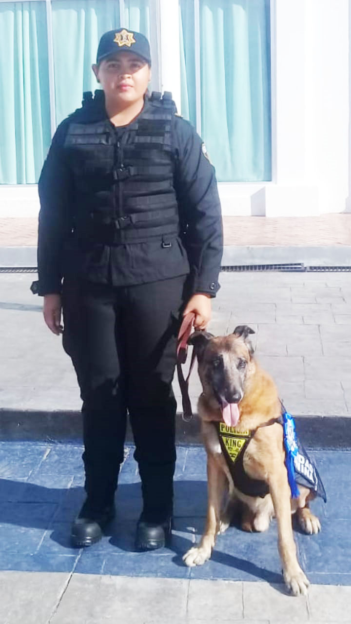 Jubila SSyPC con honores a policía canino King