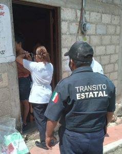Brinda SSyPC acompañamiento a brigadas de vacunación en Chiapas