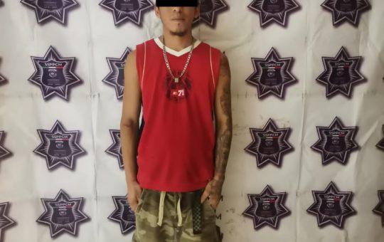 Policía Municipal de Tapachula detiene a otro amigo de lo ajeno