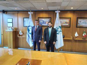 Rutilio Escandón se reúne con el director general de Nacional Financiera