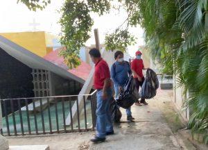 Realizan acciones de descacharramiento en Panteón Municipal de Tuxtla